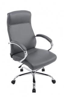 XXL Bürostuhl bis 210 kg grau edler Chefsessel modern design Kunstleder günstig