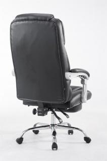 XXL Bürostuhl 150kg belastbar schwarz Kunstleder Chefsessel Fußablage Drehstuhl - Vorschau 4