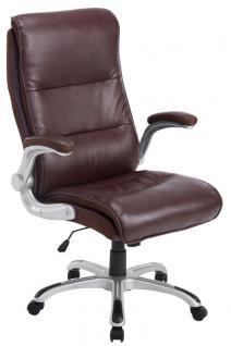 XXL Bürostuhl 150 kg bordeauxrot Kunstleder Chefsessel modern design hochwertig