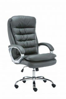 XXL Bürostuhl bis 235 kg belastbar Kunstleder grau Chefsessel schwere Personen