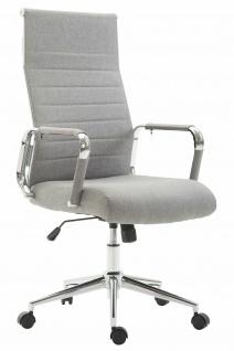 Bürostuhl 136 kg belastbar grau Stoffbezug Chefsessel modern design stabil