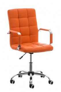 Bürostuhl orange Kunstleder Chefsessel hochwertig günstig modern design neu