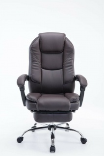 Bürostuhl 120 kg belastbar braun Kunstleder Chefsessel Computerstuhl Drehstuhl