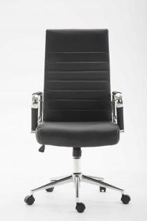 Bürostuhl 136 kg belastbar schwarz Kunstleder Chefsessel modern design stabil - Vorschau 2