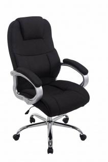 XXL Chefsessel 150 kg belastbar Stoffbezug schwarz Bürostuhl hochwertig stabil