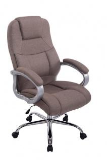 XXL Chefsessel 210 kg belastbar Stoffbezug taupe Bürostuhl hochwertig stabil