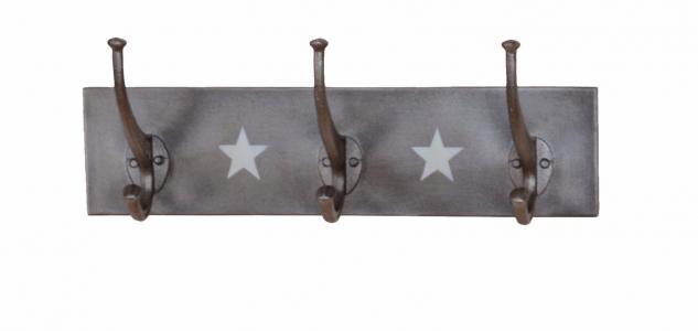 Wandgarderobe Metallgrau Eisen Hakenleiste Garderobe Garderobenhaken design