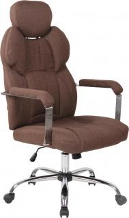 Bürostuhl 150kg belastbar Stoff braun Chefsessel Drehstuhl modern stabil robust