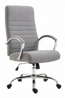 Bürostuhl 136 kg belastbar Stoff hellgrau Chefsessel Drehstuhl stabil robust