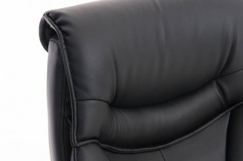 XXL Bürostuhl schwarz 150 kg belastbar Chefsessel Kunstleder stabil hochwertig - Vorschau 5