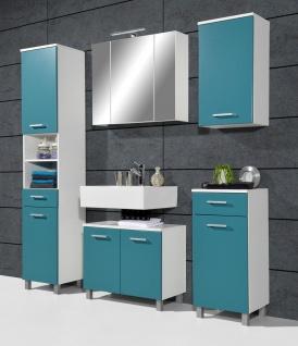 Badezimmer Set 5 teilig Badset Schrank Spiegelschrank Unterschrank Hochschrank