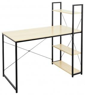 moderner Schreibtisch Sonoma / schwarz Computertisch PC-Tisch Bürotisch design
