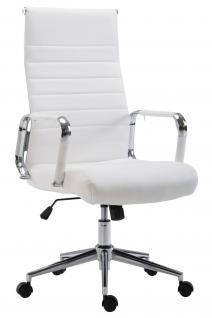 Chefsessel Kunstleder weiß Bürostuhl modern design hochwertig geschwungen neu