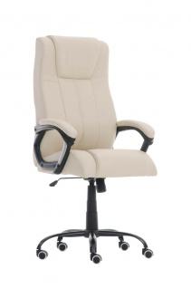 Bürostuhl creme 150 kg belastbar Chefsessel Kunstleder Drehstuhl stabil robust