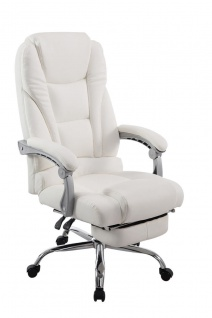 XL Bürostuhl 150kg belastbar weiß Kunstleder Chefsessel modern design günstig