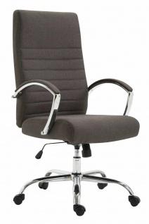 Bürostuhl 136 kg belastbar Stoff dunkelgrau Chefsessel Drehstuhl stabil robust