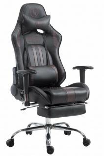 XL Chefsessel 150 kg belastbar schwarz braun Bürostuhl Fußablage Zocker Gamer