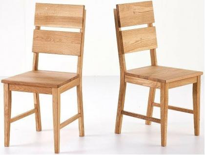 2er Set Stuhl Wildeiche massivholz geölt Esszimmerstuhl Stühle Stuhlset Holz