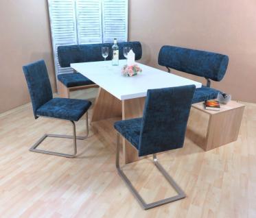 Dinninggruppe Sonoma aquamarin Sitzbank Bänke 2 x Stühle modern design Stuhlset