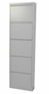 Metall-Schuhschrank weiß 5 Klappen Schuhkipper Schuhregal modern design NEU