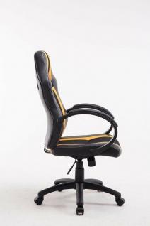 XL Bürostuhl 136kg belastbar schwarz gelb Kunstleder Chefsessel schwere Personen - Vorschau 3