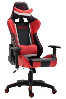 XL Bürostuhl schwarz rot Kunstleder Bürostuhl modern design hochwertig Gamer