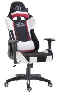 XL Bürostuhl schwarz weiß Stoffbezug Bürostuhl modern design hochwertig Gamer
