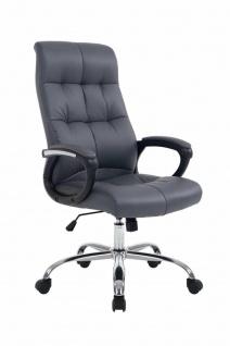 XL Chefsessel bis 160 kg grau belastbar feinstes Kunstleder Bürostuhl günstig
