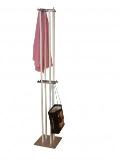 Kleiderständer weiß Stahl Garderobenständer Hutständer Garderobe design modern