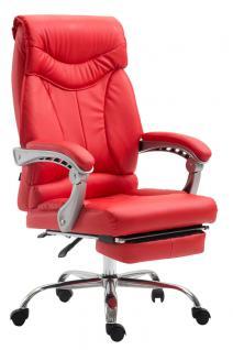 Chefsessel bis 136 kg belastbar rot Bürostuhl Kunstleder modern design robust