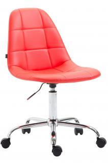 Bürostuhl Kunstleder rot modernes design drehbar Drehstuhl Arbeitshocker neu