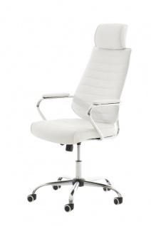 Bürostuhl 120 kg belastbar Kunstleder weiß Chefsessel hochwertig modern design