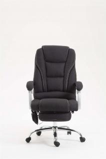 XXL Bürostuhl 150 kg belastbar schwarz Stoffbezug Chefsessel Massagefunktion - Vorschau 5