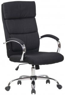 Bürostuhl schwarz Stoff Chefsessel Drehstuhl Schreibtischstuhl Computerstuhl