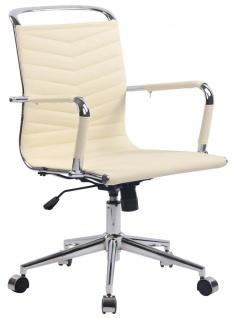 Drehstuhl 136 kg belastbar creme Bürostuhl Arbeitshocker Chromgestell verchromt