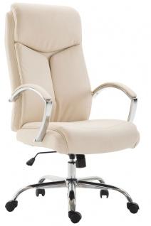 XL Chefsessel 140 kg belastbar Kunstleder creme Bürostuhl hochwertig stabil