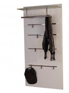 Garderoben-Paneel weiß Garderobe Wandgarderobe Garderobenleiste Milchglas neu