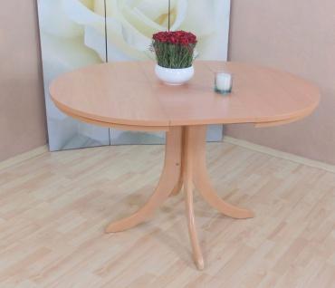 Auszugtisch rund Buche natur massiv Esstisch Esszimmertisch Tisch Küchentisch - Vorschau 2