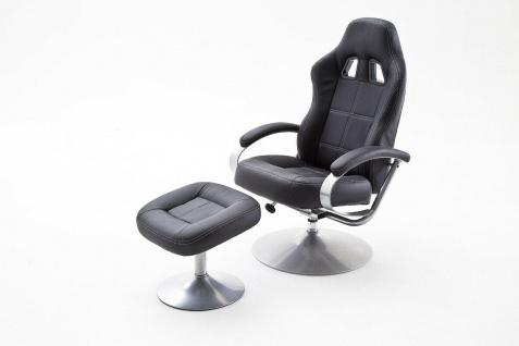 Relaxsessel schwarz inklusive Hocker Fernsehsessel Drehsessel modern design