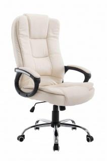 Bürostuhl creme 120 kg belastbar Chefsessel Kunstleder Drehstuhl stabil robust