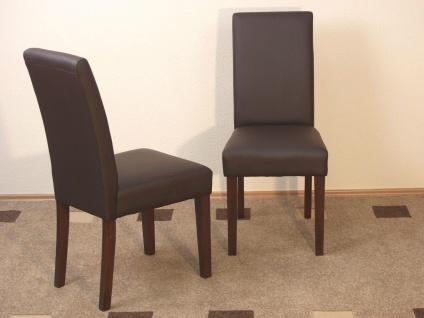 Stuhl Stühle 2 Stück Set Polsterstuhl Polster schwarz creme mocca Esszimmerstuhl
