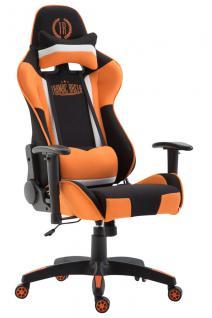 XL Bürostuhl schwarz orange Stoffbezug Bürostuhl modern design hochwertig Gamer