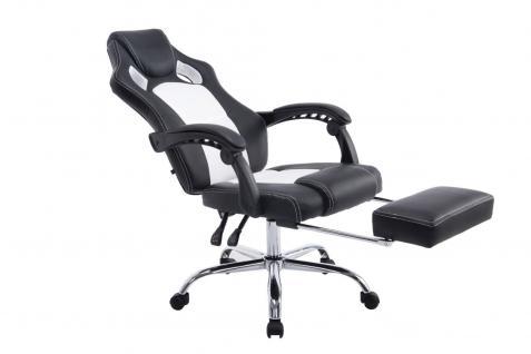 XL Chefsessel schwarz Bürostuhl Kunstleder Gaming Zockersessel design günstig