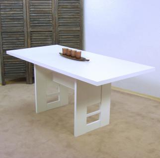 moderner Auszugtisch weiß Esstisch Wangentisch Esszimmertisch design preiswert