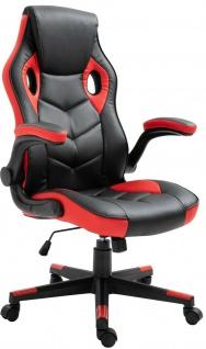 Racing Bürostuhl schwarz/rot Computerstuhl Schreibtischstuhl sportlich stabil