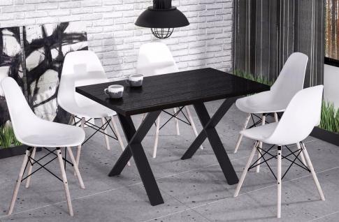 hochwertiger Esstisch Wenge Esszimmertisch Küche Metallgestell modern design