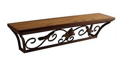 Wand-Konsole antik braun 90 cm Regal Wandregal Ablage Landhausstil Eisen neu