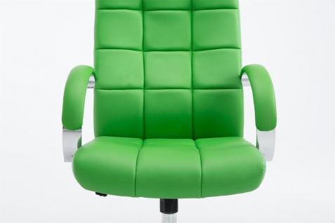 Bürostuhl 120 kg belastbar Kunstleder grün Chefsessel hochwertig stabil neu - Vorschau 2