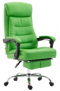 XL Chefsessel belastbar 136kg Kunstleder grün Bürostuhl Fußablage modern design