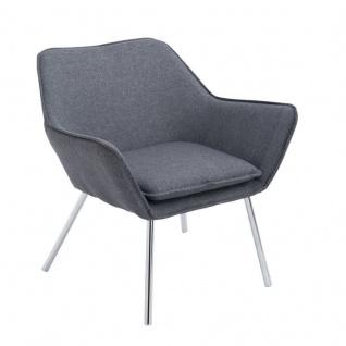 Lounger dunkelgrau Stoffbezug Loungesessel Clubsessel modern design bequem